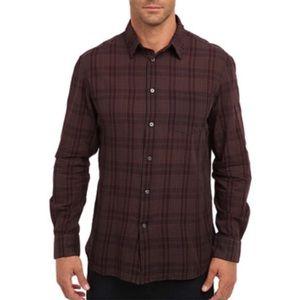 John Varvatos Button Up Shirt Long Sleeve Plaid